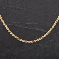 Pre-Owned 9ct Yellow Gold Necklet Rope Chain 4104268