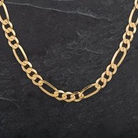 Pre-Owned 9ct Yellow Gold Necklet Figaro Chain 4104291