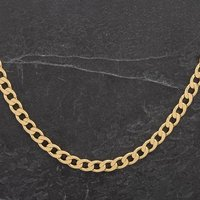 """Pre-Owned 9ct Yellow Gold 20"""" Flat Curb Chain 4104318"""