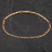 Pre-owned 9ct Yellow Gold Chain Figaro Bracelet 4106233
