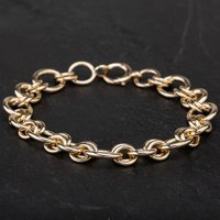 Pre-Owned 9ct Yellow Gold 8 Inch Fancy Bracelet 4107006