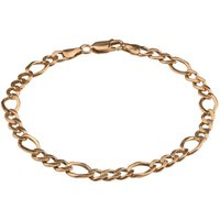 Pre-Owned 9ct Yellow Gold Figaro Chain Bracelet 4107114