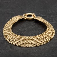 Pre-owned 9ct Yellow Gold Chain Fancy Bracelet 4107801