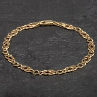 Pre-owned 9ct Yellow Gold Chain Curb Bracelet 4107870