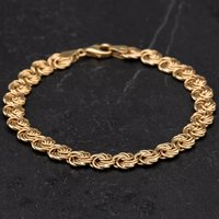 Pre-Owned 9ct Yellow Gold 7.5 Inch Fancy Bracelet 4107960