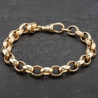 Pre-Owned 9ct Yellow Gold Chain Belcher Bracelet 4108202