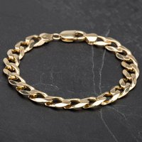"""Pre-Owned 9ct Yellow Gold 8"""" Flat Curb Bracelet 4108231"""