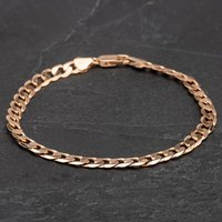 Pre-owned 9ct Yellow Gold Chain Curb Bracelet 4108244