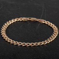 Pre-Owned 9ct Yellow Gold 8.5 Inch Flat Curb Bracelet 4108307