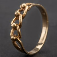Pre-Owned 9ct Yellow Gold Chain Link Ring 4109257