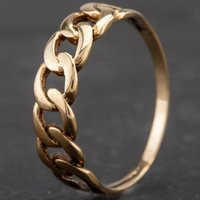Pre-Owned 9ct Yellow Gold Chain Link Dress Ring 4109767