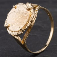 Pre-Owned 9ct Yellow Gold Peso Ring 4110131