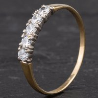 Pre-Owned 9ct Yellow Gold Cubic Zirconia Half Eternity Ring 4110144