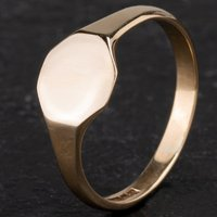 Pre-Owned 9ct Yellow Gold Hexagonal Signet Ring 4110311