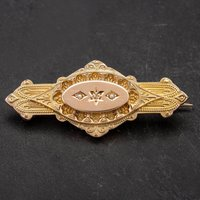Pre-Owned 9ct Yellow Gold Diamond Set Morning Brooch 4113423
