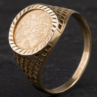 Pre-Owned 9ct Yellow Gold St George Ring 4120303