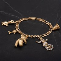 Pre-Owned 9ct Yellow Gold 7.5 Inch Figaro Bracelet 4123880