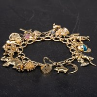 Pre-Owned 9ct Yellow Gold 7.5 Inch Charm Bracelet 4123883