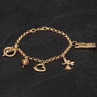 Pre-Owned 9ct Yellow Gold 7 Inch Charm Bracelet 4123887