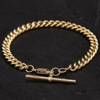 Pre-Owned 9ct Yellow Gold 8 Inch Curb Link Bracelet 4128007