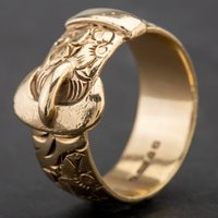 Pre-Owned 9ct Yellow Gold Buckle Ring 4134153