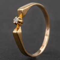 Pre-Owned 9ct Yellow Gold Diamond Single Stone Dress Ring 4136658