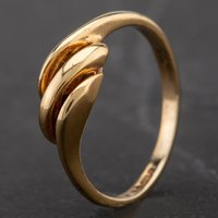Pre-Owned 9ct Yellow Gold Plain Triple Twist Ring 4157486