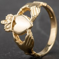 Pre-Owned 9ct Yellow Gold Claddagh Ring 4163175