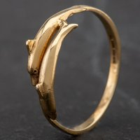 Pre-Owned 9ct Yellow Gold Dolphins Ring 4163412