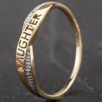Pre-Owned 9ct Yellow Gold Diamond Set Daughter Ring 4167259
