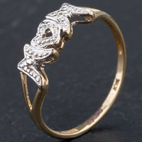 Pre-Owned 9ct Yellow Gold Brilliant Cut Diamond Set MOM Ring 4167286