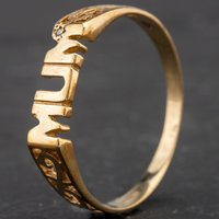 Pre-Owned 9ct Yellow Gold Diamond Set Mum Ring 4167314