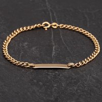 """Pre-Owned 9ct Yellow Gold 7.5"""" Identity Curb Bracelet 4188957"""