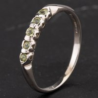 Pre-Owned 9ct White Gold Sphere Five Stone Dress Ring 4309046
