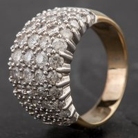 Pre-Owned 9ct White Gold 3.00ct Five Row Diamond Wide Band Ring 4332808