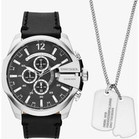 Diesel Mens Mega Chief Watch and Necklace Set DZ4559