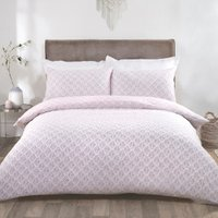 Linden Duvet Cover and Pillowcase Set - Blush / Single
