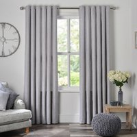 Chatsworth Eyelet Curtains - Grey / 168cm / 183cm