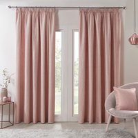 Salisbury Metallic Curtains - Rose Gold / 183cm / 168cm