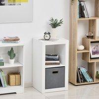 2-Tier Storage Shelf Bookshelf Display Cabinet - White