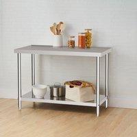 Kitchen Prep Work Table - Silver / 90cm