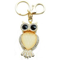 65mm Pale Rose Pink Owl Handbag Buckle Charm - Pink