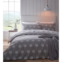 Silhouette Duvet And Pillowcase Set - Grey / Super King