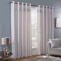 Freya Blockout Eyelet Curtains - Mink / 168cm