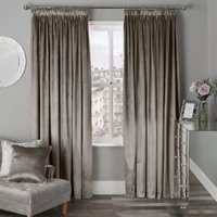 Belvedere Velvet Tape Curtains - Mink / 168cm / 137cm