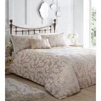 Zahara Duvet And Pillowcase Set - Oyster / Single
