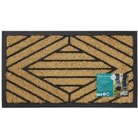 Square Pattern Comfort Scraper Entrance Rubber Door Mat