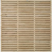 Contemporary Double Slatted Fence - Natural timber / 180cm / 5