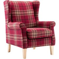 Westminster Check Armchair - Red