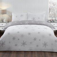 Enchanting Snowflakes Pillowcase and Duvet Set - Single